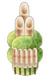 【コモンズ】きりたんぽ と ずんだ餅 の 門松【素材】