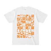 シンプルデザインTシャツ 四八シュプール(ORANGE)