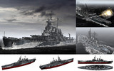 MMD用モブ超弩級戦艦1943(ノースモブライナ)セット