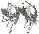 秋津洲【MMD艦これ改造モデル】比較(あさい式改変)