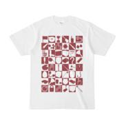 シンプルデザインTシャツ 四八シュプール(MAROON)