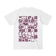 シンプルデザインTシャツ 四八シュプール(PURPLE)