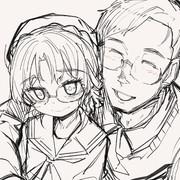 平戸ちゃんとパパの仲睦まじい写真