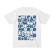 シンプルデザインTシャツ 四八シュプール(NAVY)