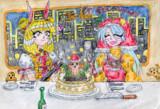 霊長園のXマスパーティー「造形神の作ったハニワマロンケーキ」