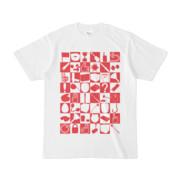 シンプルデザインTシャツ 四八シュプール(CRIMSON)