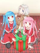 三人でメリークリスマス