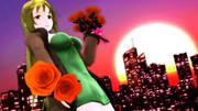 クリスマスの夜明け、六導玲霞と橙色の薔薇。【Fate/MMD】