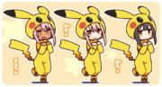 ポケモンごっこ三姉妹