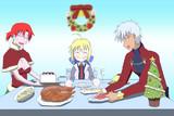 食堂でクリスマス!