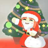 プレゼントをいっぱい抱えてやってきたサンタさん美鈴