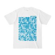 シンプルデザインTシャツ TOY☆TANKER(CYAN)