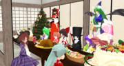 博麗神社でクリスマスパーティー