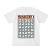 シンプルデザインTシャツ WANTED MONSTER(GRAY)