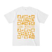 シンプルデザインTシャツ GAME MONSTER(GOLD)