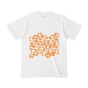 シンプルデザインTシャツ WAVE・MONSTER(ORANGE)
