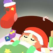 寝ているサンタさん美鈴にみんなからのプレゼント