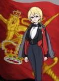 夜会服のダー様。For king and country