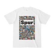 シンプルデザインTシャツ Spur/176_A(WHITE)