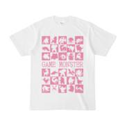 シンプルデザインTシャツ GAME MONSTER(VIOLET)