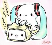 うさミクと虎リンで地震支援!