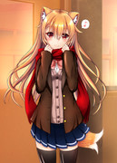 狐耳っ娘と制服デート♪