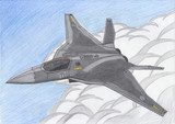 防衛省が発表した次期戦闘機のイメージ図