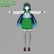 ずん子衣装1:高校制服