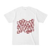 シンプルデザインTシャツ WAVE・MONSTER(MAROON)