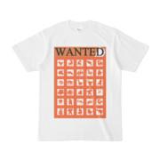 シンプルデザインTシャツ WANTED MONSTER(CHOCOLATE)