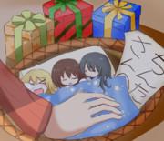 クリスマスに寝るサケノミ達