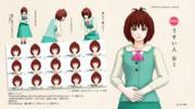 【MMDモデル配布】うすい人 女1ver1.1