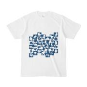 シンプルデザインTシャツ WAVE・MONSTER(NAVY)