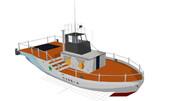 一般船舶のMMDモデルです