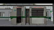 【MMDモデル配布】電車の形をした文庫本本棚モデル