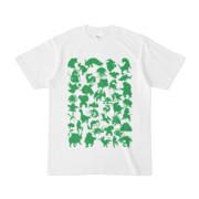シンプルデザインTシャツ MONSTER☆43MAP(GREEN)