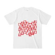 シンプルデザインTシャツ WAVE・MONSTER(CRIMSON)