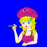 クォクォアシガレットを吸うパップラドン娘