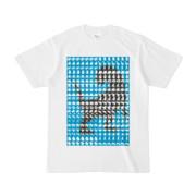 シンプルデザインTシャツ MONSTER-REX41(CYAN)
