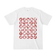 シンプルデザインTシャツ C.MONSTER(BROWN)