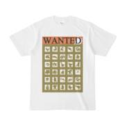 シンプルデザインTシャツ WANTED MONSTER(OLIVE)