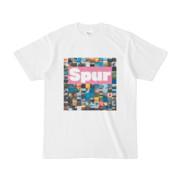 シンプルデザインTシャツ Spur_BOX104(VIOLET)
