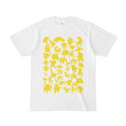 シンプルデザインTシャツ MONSTER☆43MAP(YELLOW)