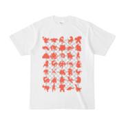 シンプルデザインTシャツ NET35☆MONSTER(TOMATO)