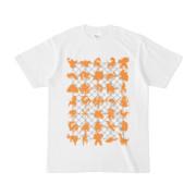 シンプルデザインTシャツ NET35☆MONSTER(ORANGE)