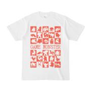 シンプルデザインTシャツ GAME MONSTER(TOMATO)