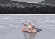 寒中水泳するガングート