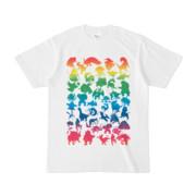 シンプルデザインTシャツ MONSTER☆43MAP(RAINBOW)