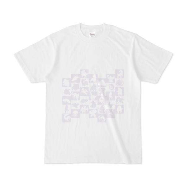 シンプルデザインTシャツ WAVE・MONSTER(LAVENDER)