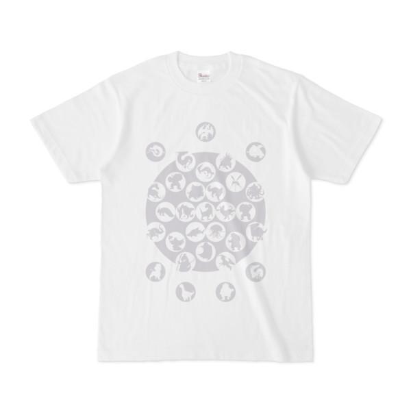 シンプルデザインTシャツ M_Ladybird(SILVER)